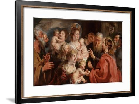 Suffer the Little Children to Come Unto Me, 1615-16-Jacob Jordaens-Framed Art Print
