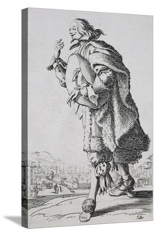 Etching from the Noblesse Series-Jacques Callot-Stretched Canvas Print