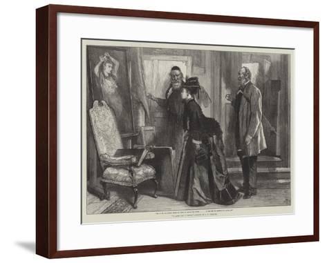 A Quest for a Cousin-James Abbott Pasquier-Framed Art Print