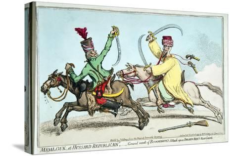 Mamlouk Et Hussard Republicain-James Gillray-Stretched Canvas Print