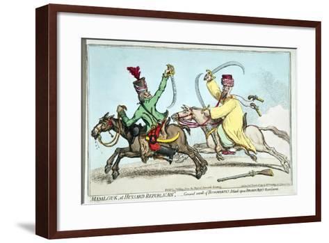 Mamlouk Et Hussard Republicain-James Gillray-Framed Art Print