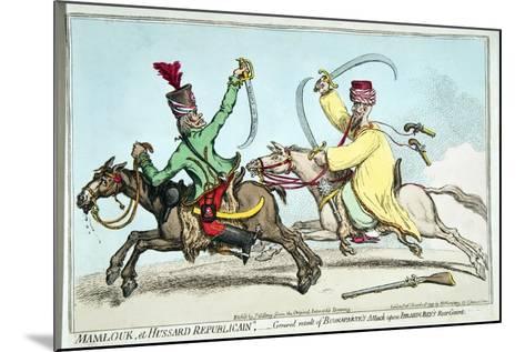 Mamlouk Et Hussard Republicain-James Gillray-Mounted Giclee Print