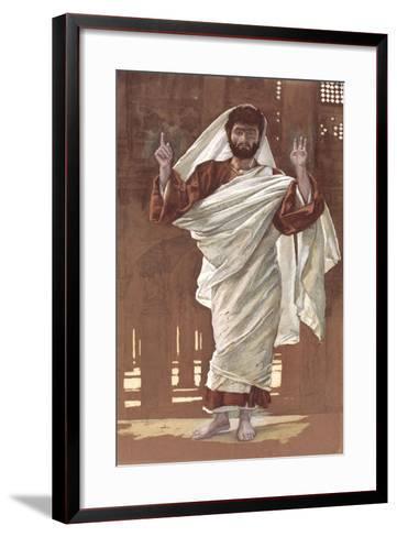 Saint Bartholomew for 'The Life of Christ', C.1886-94 (W/C and Gouache on Paperboard)-James Jacques Joseph Tissot-Framed Art Print