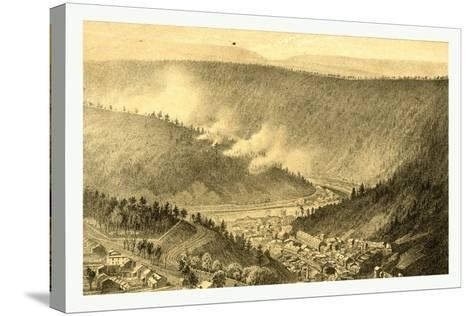 Bird's Eye View Showing Mauch Chunk-James Queen-Stretched Canvas Print