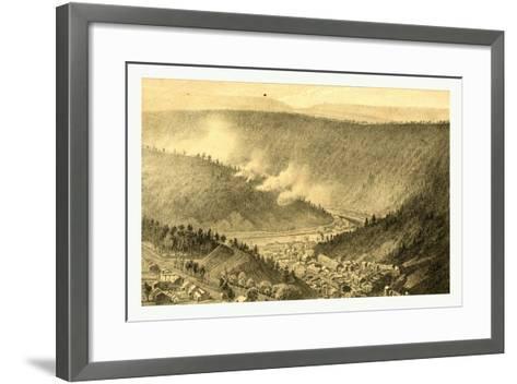 Bird's Eye View Showing Mauch Chunk-James Queen-Framed Art Print