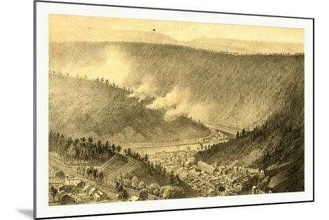 Bird's Eye View Showing Mauch Chunk-James Queen-Mounted Giclee Print