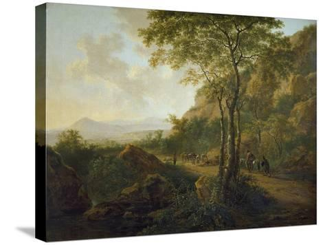 Italianate Landscape with Muleteers-Jan Both-Stretched Canvas Print
