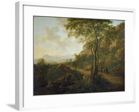 Italianate Landscape with Muleteers-Jan Both-Framed Art Print