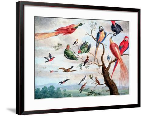 The Chorus of Birds, C.1650-1675-Jan Thomasz. van Kessel-Framed Art Print