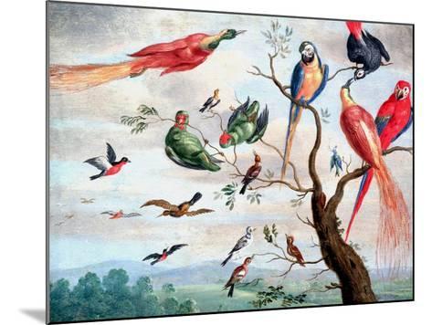 The Chorus of Birds, C.1650-1675-Jan Thomasz. van Kessel-Mounted Giclee Print