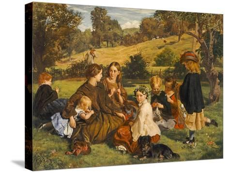 Summertime, Gloucestershire, Exh.1860-James Archer-Stretched Canvas Print
