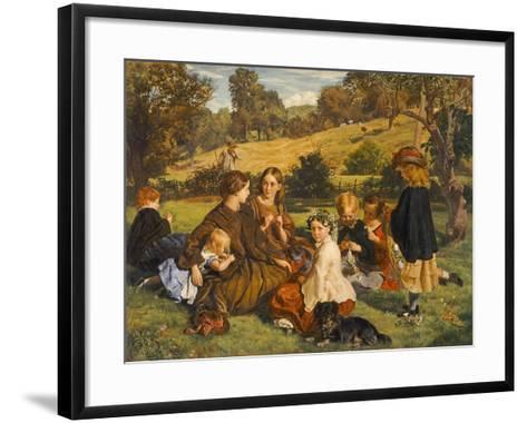 Summertime, Gloucestershire, Exh.1860-James Archer-Framed Art Print