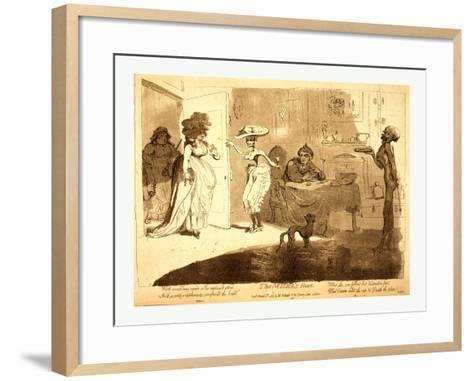 The Miser's Feast-James Gillray-Framed Art Print