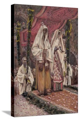 Betrothal of the Holy Virgin and Saint Joseph-James Jacques Joseph Tissot-Stretched Canvas Print