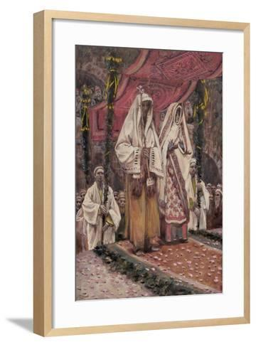 Betrothal of the Holy Virgin and Saint Joseph-James Jacques Joseph Tissot-Framed Art Print