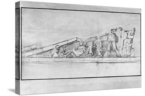 Study of the Frieze from a Pediment of the Parthenon-Jacques Carrey-Stretched Canvas Print
