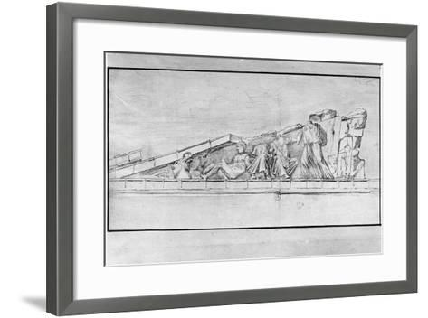 Study of the Frieze from a Pediment of the Parthenon-Jacques Carrey-Framed Art Print