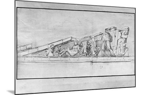 Study of the Frieze from a Pediment of the Parthenon-Jacques Carrey-Mounted Giclee Print