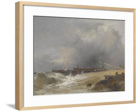 Littlehampton Pier on the Sussex Coast, C.1842-James Baker Pyne-Framed Art Print