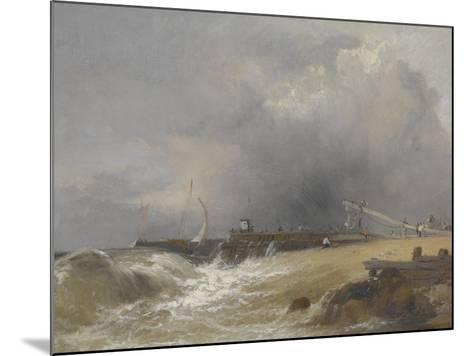 Littlehampton Pier on the Sussex Coast, C.1842-James Baker Pyne-Mounted Giclee Print