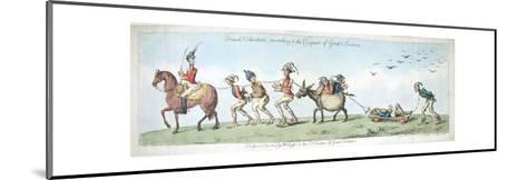 French Volunteers, Marching to the Conquest of Great Britain, Published by Hannah Humphrey in 1799-James Gillray-Mounted Giclee Print