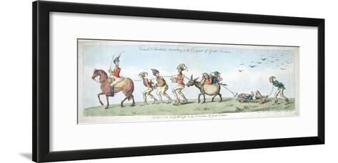 French Volunteers, Marching to the Conquest of Great Britain, Published by Hannah Humphrey in 1799-James Gillray-Framed Art Print