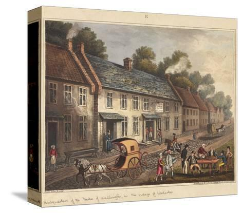 Headquarters of the Duke of Wellington in the Village of Waterloo-James Rouse-Stretched Canvas Print