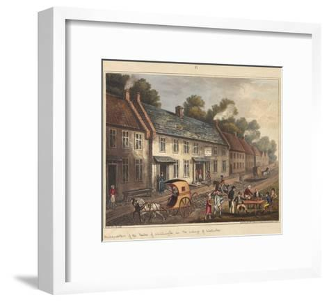 Headquarters of the Duke of Wellington in the Village of Waterloo-James Rouse-Framed Art Print