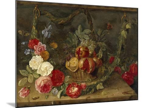 Decorative Still-Life Composition with a Basket of Fruit-Jan van Kessel the Elder-Mounted Giclee Print