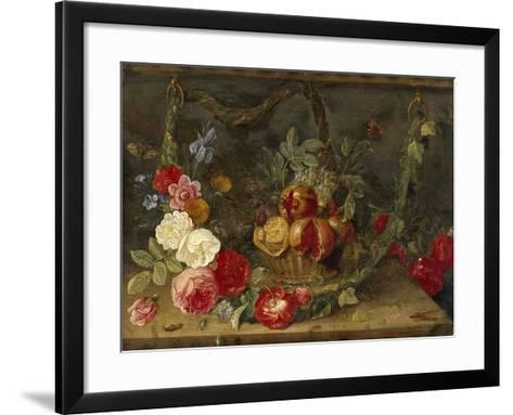 Decorative Still-Life Composition with a Basket of Fruit-Jan van Kessel the Elder-Framed Art Print