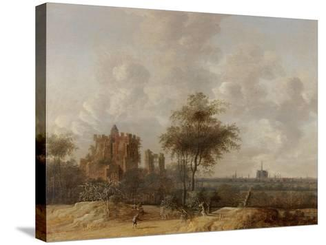 Landscape with the Ruined Castle of Brederode and a Distant View of Haarlem, 1655-Jacob Van der Croos-Stretched Canvas Print