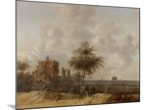 Landscape with the Ruined Castle of Brederode and a Distant View of Haarlem, 1655-Jacob Van der Croos-Mounted Giclee Print