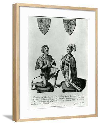 Richard Fitzalan, 3rd (10Th) Earl of Arundel (C.1307-76) and Eleanor Countess of Arundel, 1785-James Basire-Framed Art Print