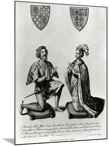 Richard Fitzalan, 3rd (10Th) Earl of Arundel (C.1307-76) and Eleanor Countess of Arundel, 1785-James Basire-Mounted Giclee Print