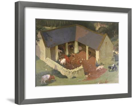 The Field Byre, 1933-James Bateman-Framed Art Print