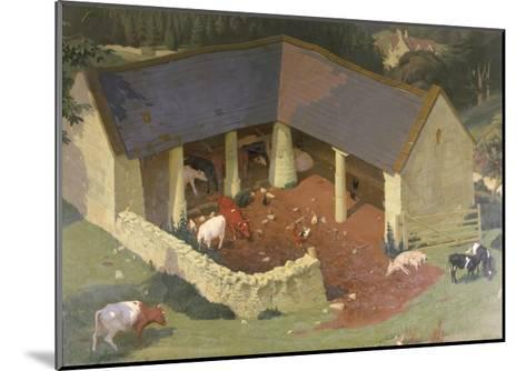 The Field Byre, 1933-James Bateman-Mounted Giclee Print