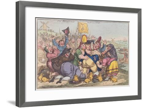 The Reception in Holland, Published by Hannah Humphrey in 1799-James Gillray-Framed Art Print