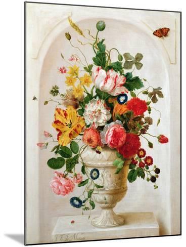 An Urn of Flowers in an Alcove-Jan Frans Josephus Mertens-Mounted Giclee Print