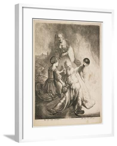 Lot and His Daughters, 1631-Jan Georg van Vliet-Framed Art Print