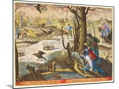Birdcatchers Using Traps Baited with Rats to Capture Hawks-Jan van der Straet-Mounted Giclee Print