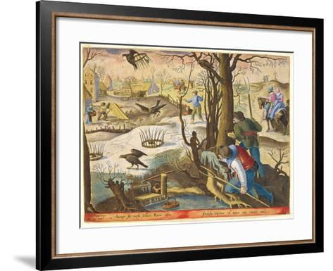 Birdcatchers Using Traps Baited with Rats to Capture Hawks-Jan van der Straet-Framed Art Print