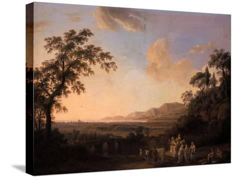 Idyllic Landscape at Dusk, 1782-Jacob-Philippe Hackert-Stretched Canvas Print