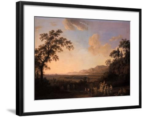 Idyllic Landscape at Dusk, 1782-Jacob-Philippe Hackert-Framed Art Print
