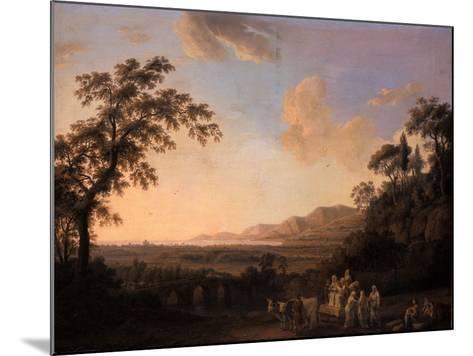 Idyllic Landscape at Dusk, 1782-Jacob-Philippe Hackert-Mounted Giclee Print