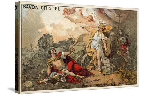The Combat of Mars and Minerva-Jacques Louis David-Stretched Canvas Print