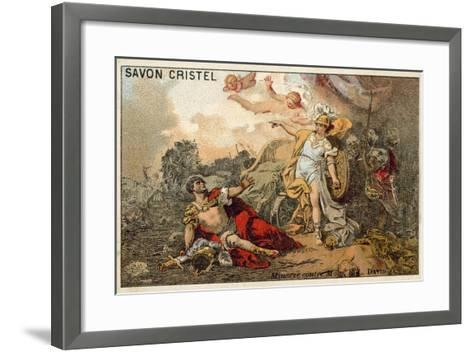 The Combat of Mars and Minerva-Jacques Louis David-Framed Art Print