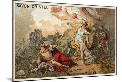 The Combat of Mars and Minerva-Jacques Louis David-Mounted Giclee Print