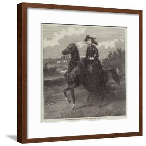 The Empress of the French-Jacques Louis David-Framed Art Print