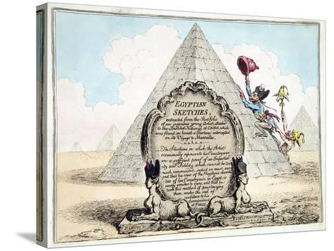 Egyptian Sketches, Published Hannah Humphrey in 1799-James Gillray-Stretched Canvas Print