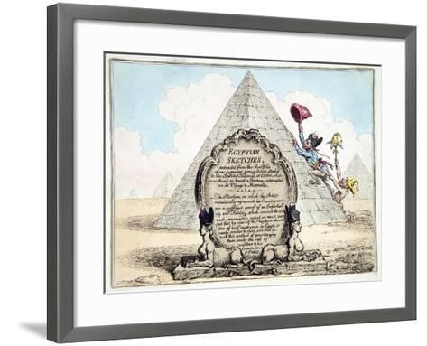Egyptian Sketches, Published Hannah Humphrey in 1799-James Gillray-Framed Art Print